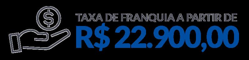 Taxa de franquia a partir de 22.900,00